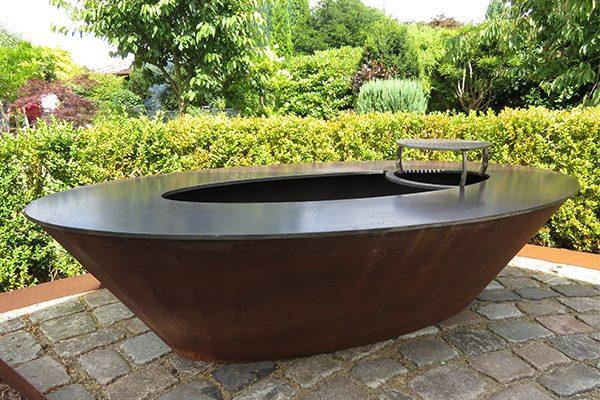 Edel und Garten Feuerschalen - Modell 2 - 2 x 1,05 x 0,5 m